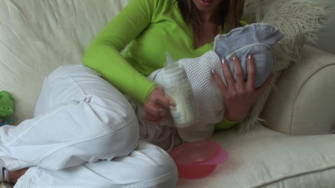 Mother with newborn Baby Stock Video Footage