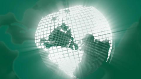 Stock Animation Green Globe Footage