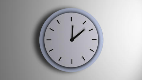 Blue Clock Line Time Lapse Stock Video Footage