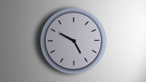 Blue Clock Line Time Lapse Animation