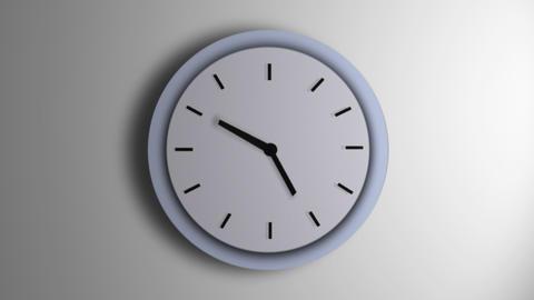Blue Clock Line Time Lapse Animation