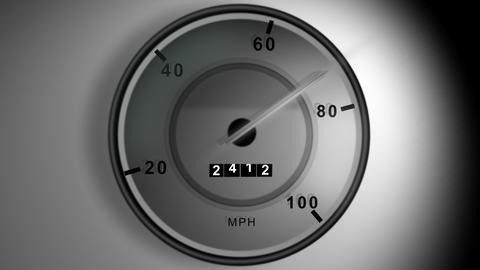 Speedometer still Stock Video Footage