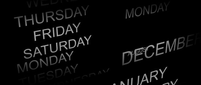 DAYS AND MONTHS SCROLLING Stock Video Footage