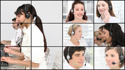 HD video footage of a business call centre Footage