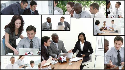 Team brainstorming session Footage