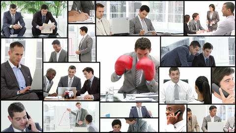 Men working in the office Stock Video Footage
