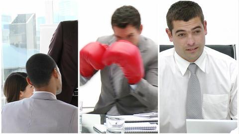 Assosciates hard at work Stock Video Footage