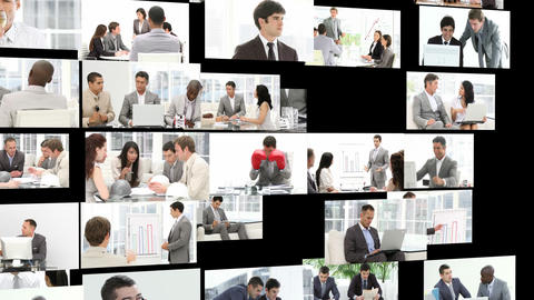 Men working inthe office Animation