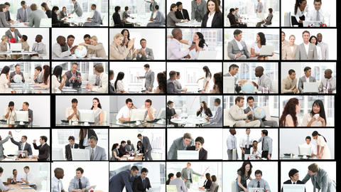 Multiple hd shots of an office environment with men... Stock Video Footage