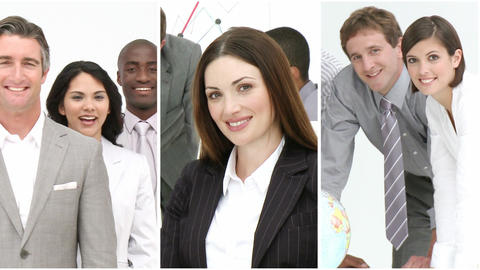 Business people working together Footage