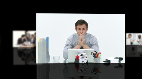 Stress with bills to pay Stock Video Footage