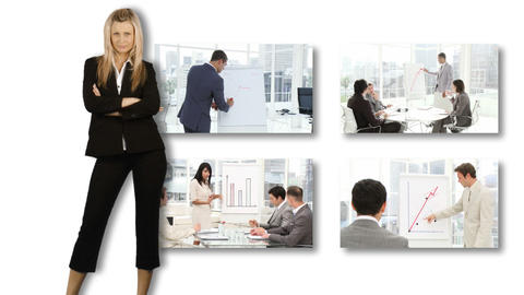 People presenting in business Stock Video Footage