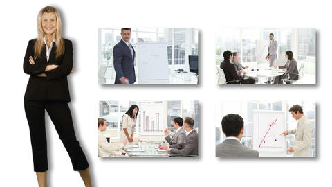 People presenting in business Animation