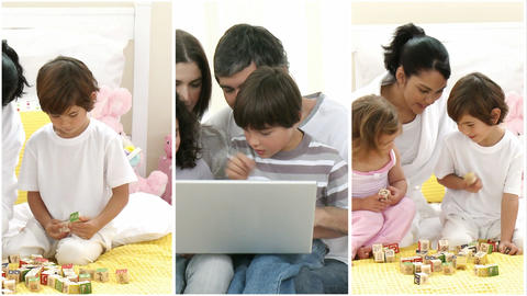 Family at Home Footage