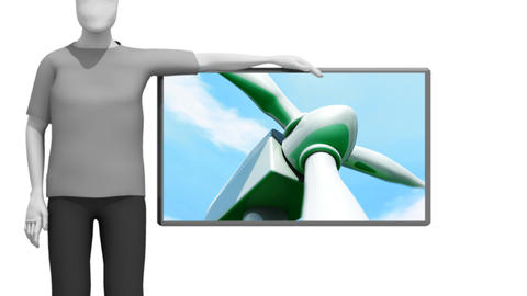 Conceot of Wind energy Stock Video Footage