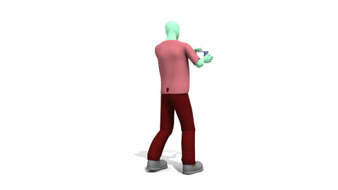 3d Man Presenting Green Technologies Animation