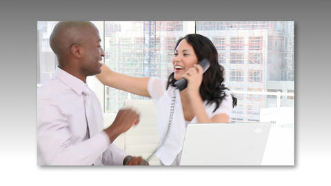 Montage Footage of Business People Stock Video Footage