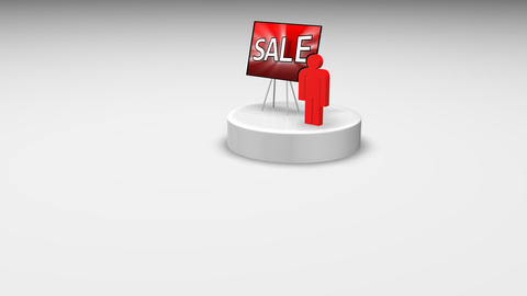 Sale concept animation Stock Video Footage