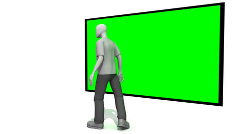 Man presenting a Green Screen Stock Video Footage