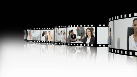 Animation showing business people Stock Video Footage