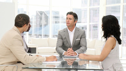Business people talking in a meeting Footage