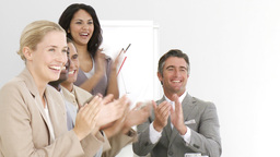 Business people applauding Stock Video Footage