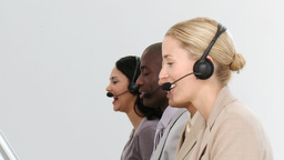 Business team working in a call centre Footage