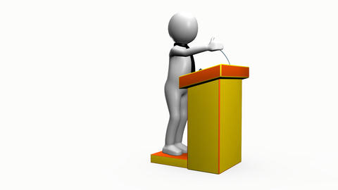 3D man giving a presentation Animation