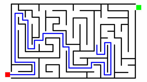 Animation of a labyrinth Stock Video Footage