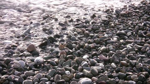 sea backwater on stones Footage
