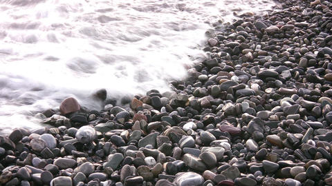 sea backwater on stones Stock Video Footage