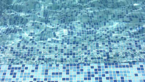 stair in water pool Stock Video Footage