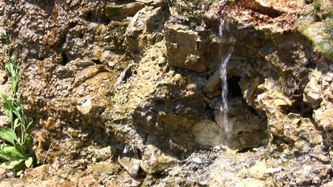 stream on stone Stock Video Footage