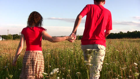 couple in field Footage