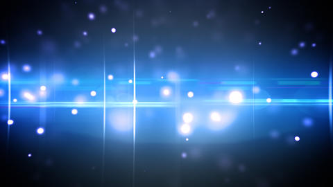 Particles and optical flares blue loop Animation
