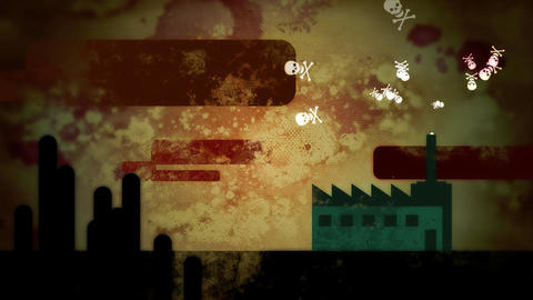 Dirty Poison Factory HD Loop Stock Video Footage