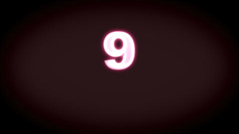 Countdown from nine to one - Numbers - Time Stock Video Footage