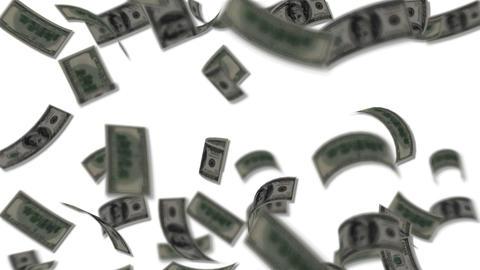Dollar bills falling like rain - Wealth - Finance Stock Video Footage
