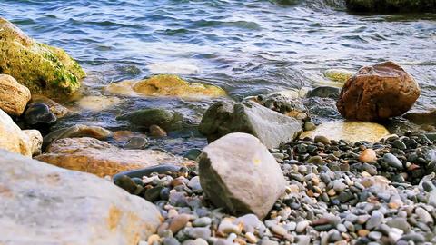 Beach rocks Footage