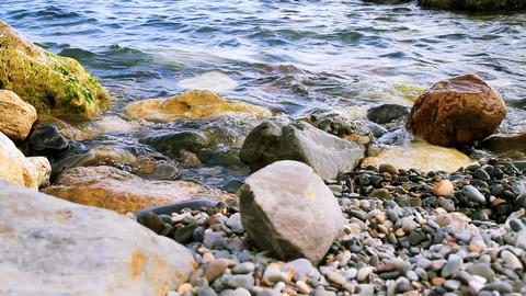 Beach rocks Stock Video Footage