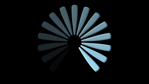 Computer loading icon on black background - Loopable - Technology - Computers Animation