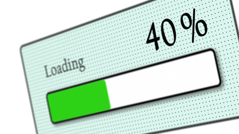 Tilted download bar loading on white background -... Stock Video Footage