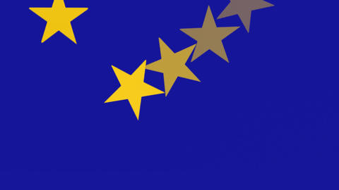 European Union Flag - Spinning Stars -1-Stops - Banner - Background Animation