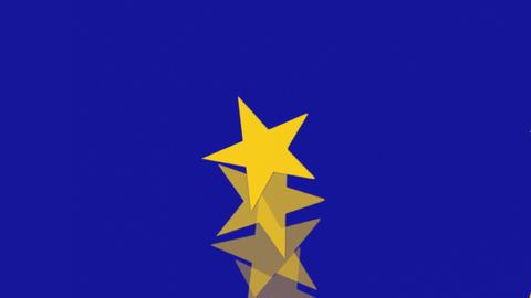 European Union Flag - Spinning Stars -1-Stops - Banner -... Stock Video Footage