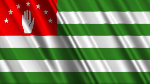 AbkhaziaFlagLoop01 Stock Video Footage