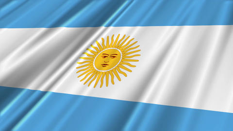 ArgentinaFlagLoop02 Stock Video Footage