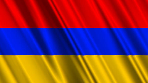 ArmeniaFlagLoop01 Stock Video Footage