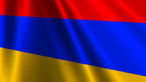 ArmeniaFlagLoop03 Stock Video Footage