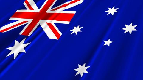 AustraliaFlagLoop02 Stock Video Footage