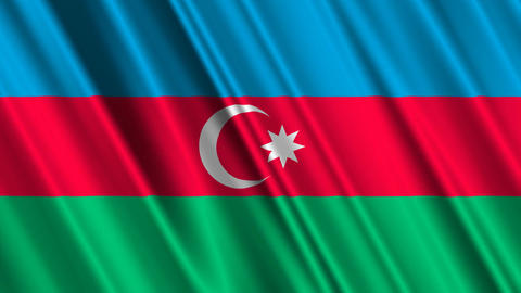 AzerbaijanFlagLoop01 Stock Video Footage